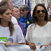 Gina Miller  join Stop Brexit Thousands assembly at St James march to Parliament Square to demand a vote on the final Brexit deal on June 23 2018, London, UK.