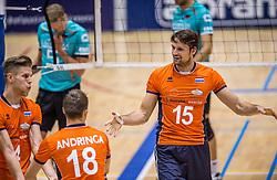 04-06-2016 NED: Nederland - Duitsland, Doetinchem<br /> Nederland speelt de tweede oefenwedstrijd in Doetinchem en verslaat Duitsland opnieuw met 3-1 / Thijs ter Horst #4, Thomas Koelewijn #15