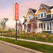 Sunrise photo of Auburn Bay Move Up Parade built by Carma Developers in Calgary, Alberta, Canada