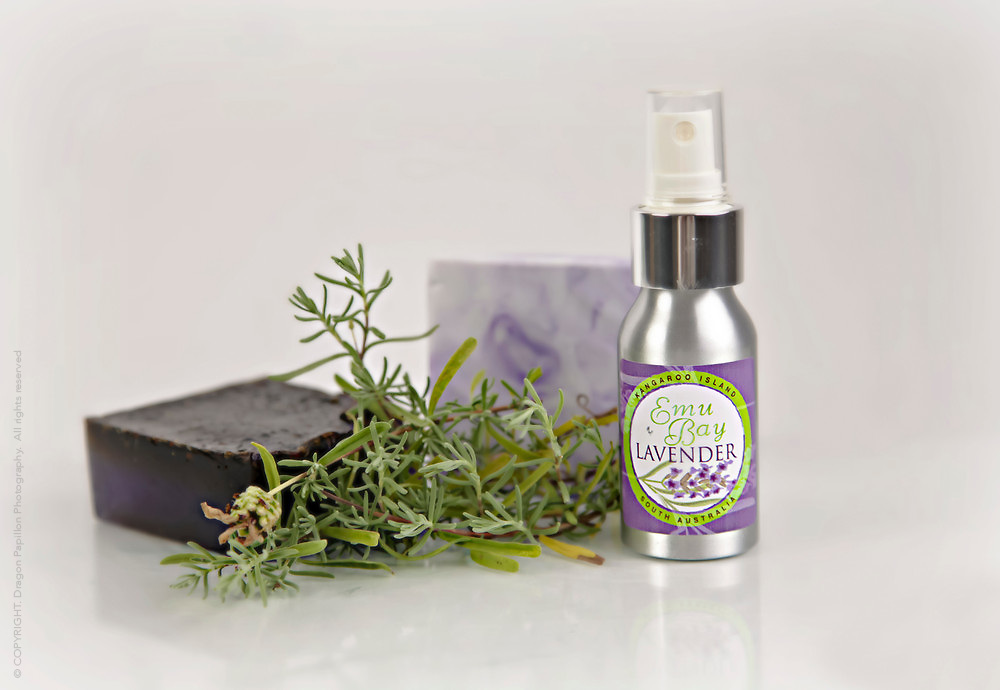 selection of beauty products from Emy Bay Lavender Farm