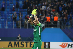 November 23, 2017 - Saint-Petersburg, Russia - Of The Russian Federation. Saint-Petersburg. Arena Saint-Petersburg. Zenit-arena. Football match of the UEFA Europa League, group stage: Zenit - FK Vardar. The player of football club Yuri Lodygin; The Captain; (Credit Image: © Russian Look via ZUMA Wire)