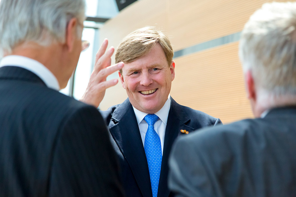 Official visit of the King of the Netherlands to the European Parliament in Brussels.<br /> Reception with Dutch MEPs and civil servants