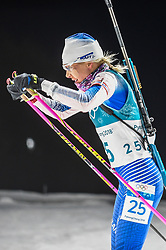 February 12, 2018 - Pyeongchang, Gangwon, South Korea - Kaisa Makarainen of Finland competing at Women's 10km Pursuit, Biathlon, at olympics at Alpensia biathlon stadium, Pyeongchang, South Korea. on February 12, 2018. (Credit Image: © Ulrik Pedersen/NurPhoto via ZUMA Press)