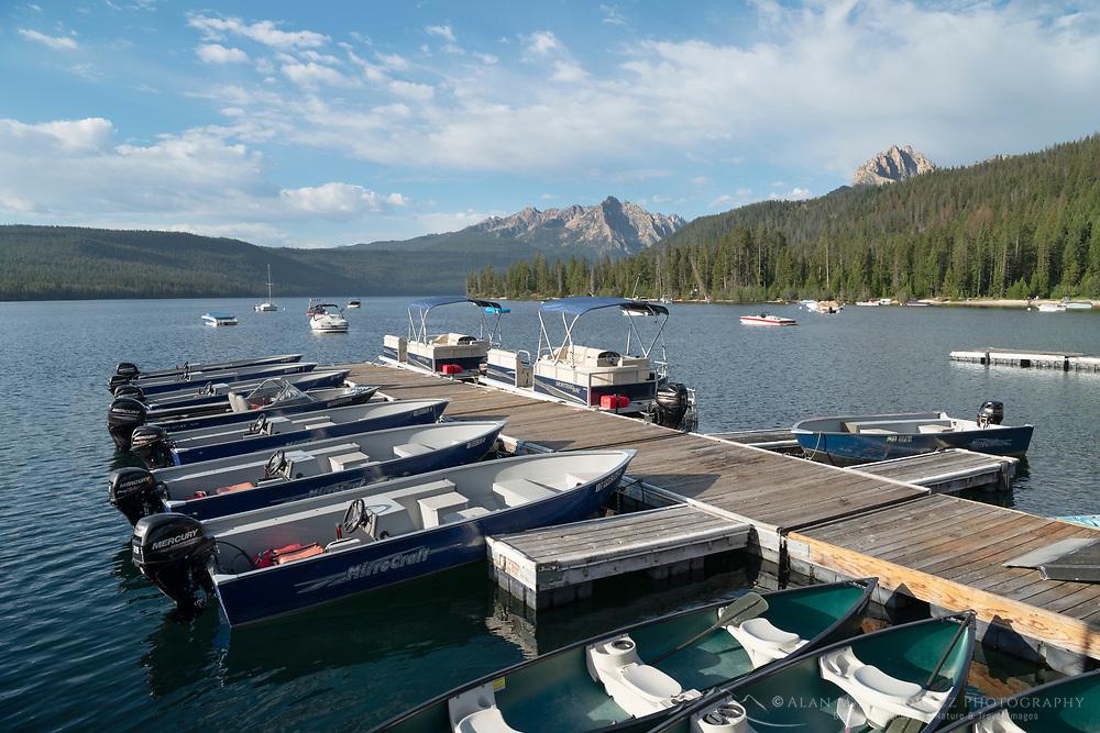 Boat dock Redfish Lake Sawtooth Mountains Idaho