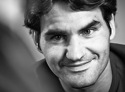 25.04.2012, Feusisberg, SUI, Roger Federer im Portrait, im Bild Tennisass Roger Federer (SUI) bei einem Termin mit Journalisten // Tennisplayer Roger Federer (SUI) talks with Journalists at Feusisberg, Switzerland on 2012/04/25. EXPA Pictures © 2012, PhotoCredit: EXPA/ Freshfocus/ Daniel Kellenberger     ***** ATTENTION - for AUT, SLO, CRO, SRB, BIH  only *****