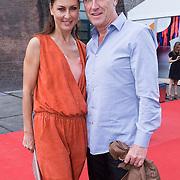 NLD/Amsterdam/20130708- AFW 2013 zomer, modeshow Claes Iversen, Euvgenia Parakhina en partner Jeroen Jorna