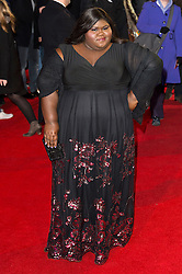 © Licensed to London News Pictures. 22/02/2016. GABOURNEY SIDIBE attends the GRIMSBY Film premiere. The film centres around a black-ops spy whose brother is a football hooligan.  London, UK. Photo credit: Ray Tang/LNP