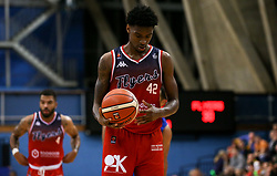 Levi Bradley of Bristol Flyers sets up for a free throw - Photo mandatory by-line: Arron Gent/JMP - 28/09/2019 - BASKETBALL - Crystal Palace National Sports Centre - London, England - London City Royals v Bristol Flyers - British Basketball League Cup