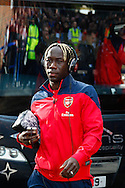 Picture by David Horn/Focus Images Ltd +44 7545 970036<br /> 26/10/2013<br /> Bacary Sagna of Arsenal arriving for the Barclays Premier League match at Selhurst Park, London.