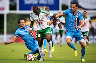 Onderwerp/Subject: Saint Etienne - Willem II - Friendly<br /> Reklame:  <br /> Club/Team/Country: <br /> Seizoen/Season: 2014/2015<br /> FOTO/PHOTO: Ismael DIOMANDE ( Ismael Tiemoko DIOMANDE ) (C) of Saint Etienne in duel with Freek HEERKENS (R) of Willem II and Ricardo IPPEL (L) of Willem II. (Photo by PICS UNITED)<br /> <br /> Trefwoorden/Keywords: <br /> #04 $94 ±1405930132301<br /> Photo- & Copyrights © PICS UNITED <br /> P.O. Box 7164 - 5605 BE  EINDHOVEN (THE NETHERLANDS) <br /> Phone +31 (0)40 296 28 00 <br /> Fax +31 (0) 40 248 47 43 <br /> http://www.pics-united.com <br /> e-mail : sales@pics-united.com (If you would like to raise any issues regarding any aspects of products / service of PICS UNITED) or <br /> e-mail : sales@pics-united.com   <br /> <br /> ATTENTIE: <br /> Publicatie ook bij aanbieding door derden is slechts toegestaan na verkregen toestemming van Pics United. <br /> VOLLEDIGE NAAMSVERMELDING IS VERPLICHT! (© PICS UNITED/Naam Fotograaf, zie veld 4 van de bestandsinfo 'credits') <br /> ATTENTION:  <br /> © Pics United. Reproduction/publication of this photo by any parties is only permitted after authorisation is sought and obtained from  PICS UNITED- THE NETHERLANDS