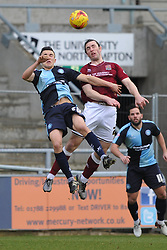 NORTHAMPTONS JOHN JOE O'TOOLE BEATS OF WYCOMBES LUKE O'NEIN, Northampton Town v Wycombe Wanderers, Sixfields Stadium, Sky Bet League 2, Saturday 20th Febuary 2016