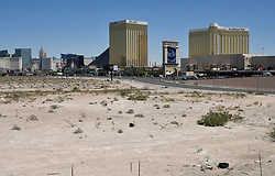 May 4, 2017. Las Vegas NV.  The Oakland Raiders finalized the purchase of 62 acres near the Las Vegas strip that will be the site of the stadium to be built in time for the 2020 NFL season on Monday. The listed the purchase price of the land, which is located near the Mandalay Bay resort sold for  $77.5 million..Clark County Commissioner Steve Sisolak announced that the NFL and the Raiders closed escrow on the proposed site for the $1.9 billion stadium that will house the Raiders when they move to Las Vegas. Location is west of the 15 freeway at Russell rd..                       .Photo by Gene Blevins/ZumaPress (Credit Image: © Gene Blevins via ZUMA Wire)