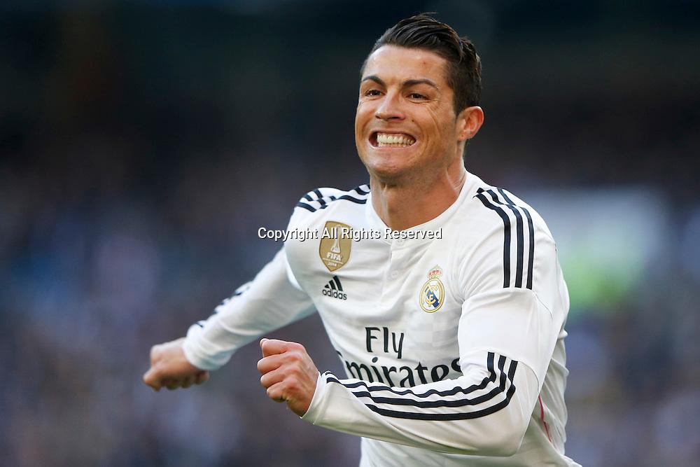 10.01.2014. Madrid, Spain. Cristiano Ronaldo dos Santos Forward of Real Madrid. La Liga  match played between Real Madrid versus Espanyol at Santiago Bernabeu stadium.