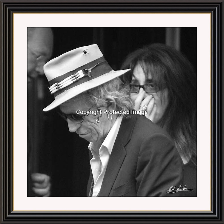 Keith Richards London Dorchester. 17x17' Museum-quality Archival signed Framed Print Jack Ludlam (Limited Edition of 25)