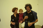 Jasper Joffe, Alba and Rose Gibbs, Alex Katz 'One Flight Up' at the new Timothy Taylor Gallery , 15 Carlos Place. London. 11 October 2007. -DO NOT ARCHIVE-© Copyright Photograph by Dafydd Jones. 248 Clapham Rd. London SW9 0PZ. Tel 0207 820 0771. www.dafjones.com.