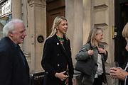 TERENCE PEPPER;; SABINA JASCOT-GILL, Opening of Artfully Dressed, Women in the Art World at the Weiss Gallery, St. James, London. 15 May 2018