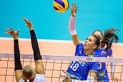 22-08-2017 NED: World Qualifications Slovenia - Bulgaria, Rotterdam<br /> Bulgaria win 3-1 against Slovenia / Sasa Planinsec #18 of Slovenia<br /> Photo by Ronald Hoogendoorn / Sportida