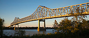 State route 70 bridge over Mississippi River at crossing point near Union & Burnside. Vacherie, Louisiana, USA