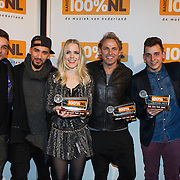 NLD/Amsterdam/20140205 - Uitreiking 100% NL Awards 2013, Ivar Oosterloo, Woodstick, Ilse de Lange, John Ewbank, Nielson, Niels Geusebroek