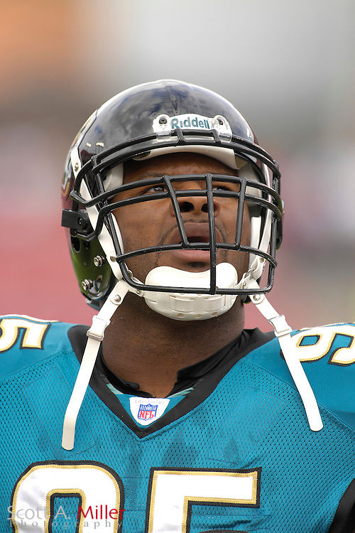 Jacksonville Jaguars defender Paul Spicer during the Jags' game against the Tampa Bay Buccaneers at Raymond James Stadium on  Oct. 28, 2007 in Tampa, Florida.      ..©2007 Scott A. Miller