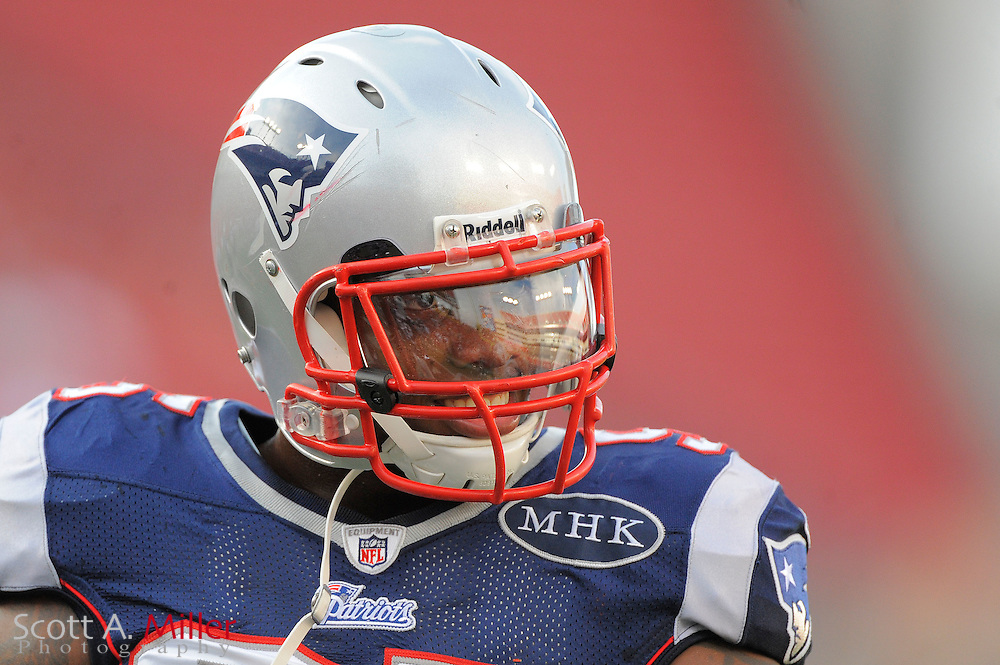 New England Patriots defensive end Mark Anderson (95) during the Pats game against the Tampa Bay Buccaneers at Raymond James Stadium on Aug. 18, 2011 in Tampa, Fla...©2011 Scott A. Miller.