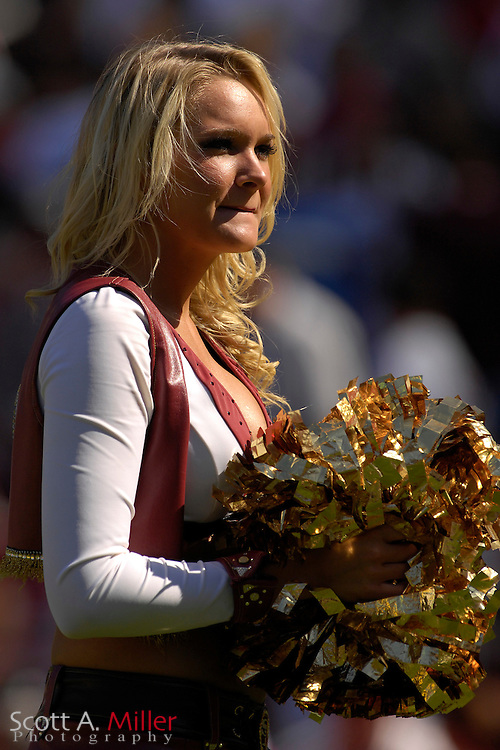Oct. 8, 2006; San Francisco, CA, USA; San Francisco 49ers cheerleader at the 49ers game against the Oakland Raiders at Monster Park. ....©2006 Scott A. Miller