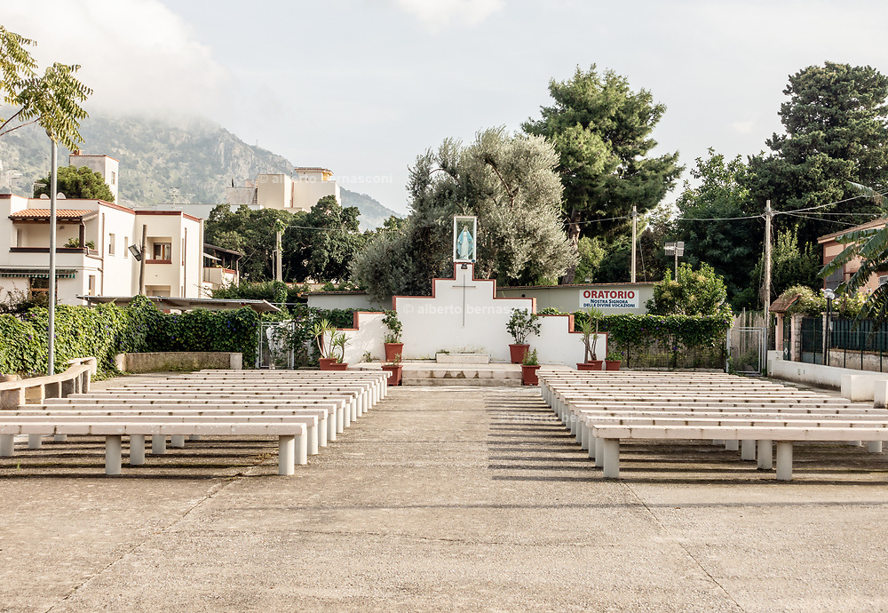 Palermo, Mondello, open air church.