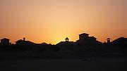 Sunset behing homes, St Augustine, Florida