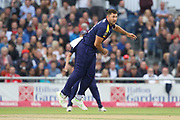 Yorkshires Tim Bresnan during the Vitality T20 Blast North Group match between Lancashire County Cricket Club and Yorkshire County Cricket Club at the Emirates, Old Trafford, Manchester, United Kingdom on 20 July 2018. Picture by George Franks.