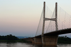 July 2007: The Bill Emerson Memorial Bridge spans the Mighty Mississippi River from Cape Girardeau, Missouri to East Cape Girardeau, Illinois