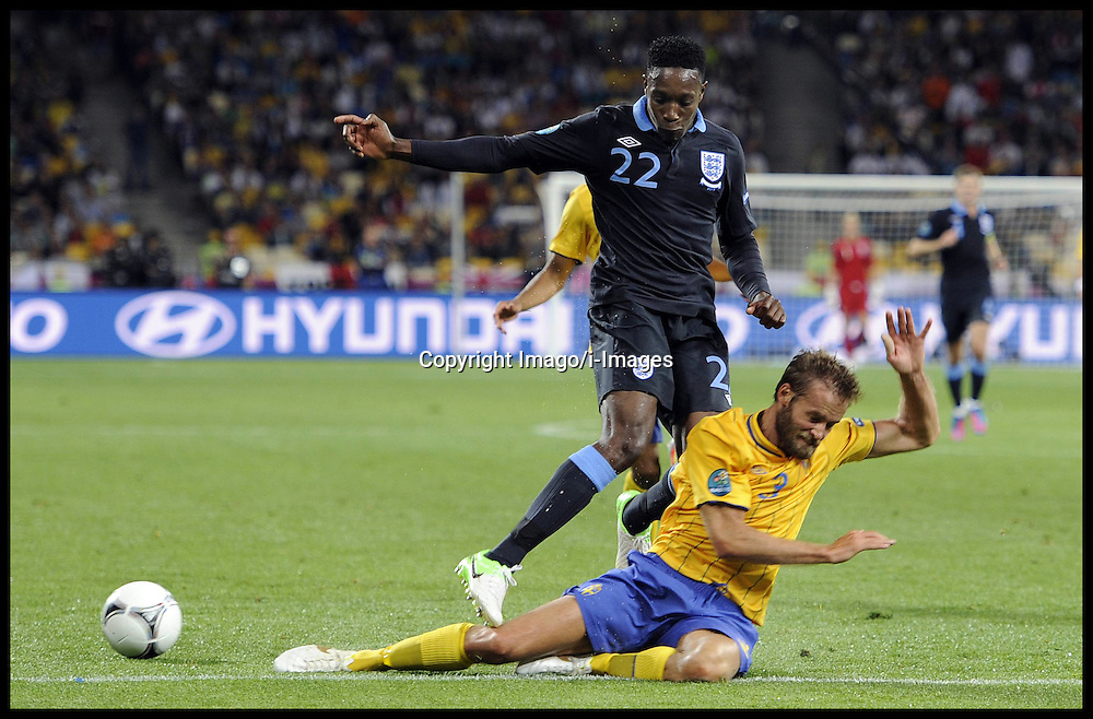 Danny Welbeck (left) against Olof Mellberg  during England v Sweden in the Group D Sweden v England match, June 15, 2012, in Kiev during the UEFA Euro 2012. Photo by Imago/i-Images