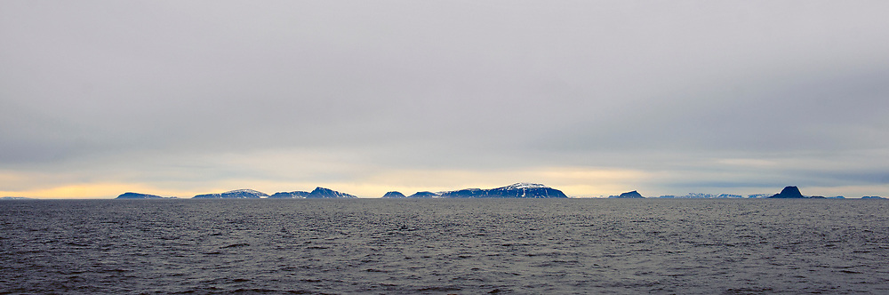 Seven Islands (Nor: Sjuöyane) off northern Spitsbergen, Svalbard in July 2012.