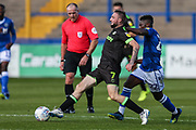 Forest Green Rovers Carl Winchester(7) passes the ball forward during the EFL Sky Bet League 2 match between Macclesfield Town and Forest Green Rovers at Moss Rose, Macclesfield, United Kingdom on 29 September 2018.