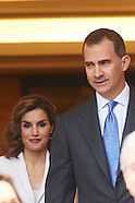 041416 Spanish Royals Attend a Meeting for the 4th centenary of Miguel de Cervantes