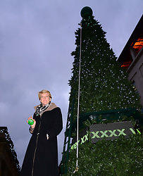Clare Balding, TV and radio presenter launches Macmillan Tree of Light Christmas tree with a difference where people can dedicate a bauble to someone in their life that has been affected by cancer. Support by npower, in aid Macmillan Cancer Support, Covent Garden,  London, United Kingdom. Tuesday, 10th December 2013. Picture by Nils Jorgensen / i-Images