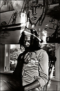 Peter Tosh with the Rolling Stones during the Don't Look Back video shoot - Strawberry Hill Jamaica 1978.