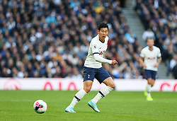 Son Heung-Min of Tottenham Hotspur passes the ball - Mandatory by-line: Arron Gent/JMP - 19/10/2019 - FOOTBALL - Tottenham Hotspur Stadium - London, England - Tottenham Hotspur v Watford - Premier League