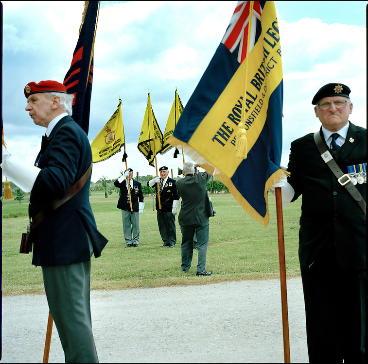 Suez Veterans meet at the 50th Anniversary of the withdrawal from the Suez Canal in 1956. The event was held at the National Memorial Arboretum near Lichfield, UK. .Photo©Steve Forrest /Workers Photos.