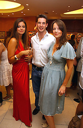 Left to right, LADY NATASHA RUFUS-ISAACS, the HON.JAMES TOLLEMACHE and ARABELLA MUSGRAVE at a party hosted by Links at their store in Sloane Square, London to celebrate the forthcoming Glorious Goodwood Racing festival held on 26th July 2006.<br />