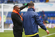Burton Albion's Lloyd Dyer warms up during the EFL Sky Bet Championship match between Ipswich Town and Burton Albion at Portman Road, Ipswich, England on 10 February 2018. Picture by John Potts.