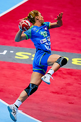 02-12-2019 JAP: Slovenia - Norway, Kumamoto<br /> Second day 24th IHF Womenís Handball World Championship, Slovenia lost the second match against Norway with 20 - 36. / Polona Baric #13 of Slovenia