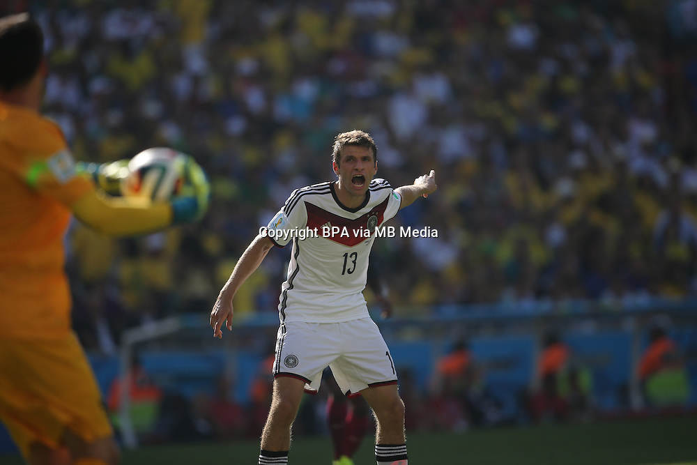 Thomas Mueller Muller. France v Germany, quarter-final. FIFA World Cup Brazil 2014. 4 July 2014