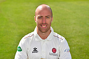 Head shot of Jack Leach of Somerset during the 2019 media day at Somerset County Cricket Club at the Cooper Associates County Ground, Taunton, United Kingdom on 2 April 2019.