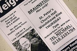 Leaflet advertising men only slimmers club,