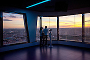 Observation platform of the Zizkov Television Tower in Prague.