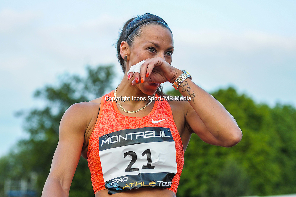 Cindy Billaud - 100m Haies - 09.06.2015 - Meeting de Montreuil<br />