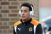 Wolverhampton Wanderers midfielder Helder Costa (17) (on loan from Benfica) arrives at the City ground ahead of the EFL Sky Bet Championship match between Nottingham Forest and Wolverhampton Wanderers at the City Ground, Nottingham, England on 17 December 2016. Photo by Jon Hobley.