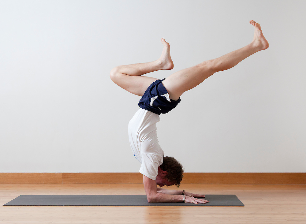 American yoga teacher Michael Herbert at Pure Yoga, Taipei, Taiwan