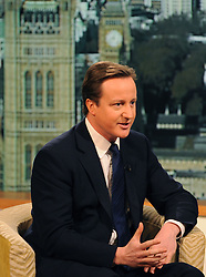 Leader of the Conservative Party David Cameron  on the BBC 1's Andrew Marr Show, Sunday  January 10, 2010. Photo By Andrew Parsons / i-Images.