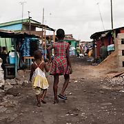 Children in Agbogbloshie, a slum in Ghana's capital, Accra.